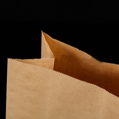 10/20/50x Quality Brown Kraft Strung Paper Bags Sandwich Fruit Grocery Food Bag 4