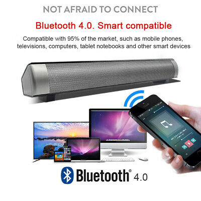Wireless Bluetooth Sound Bar Speaker Super Bass Stereo Home TV Subwoofer System 12