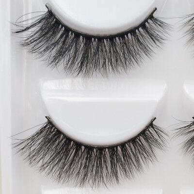 3D 5 Pairs Mink Natural Thick False Fake Eyelashes Eye Lashes Makeup Extension 7