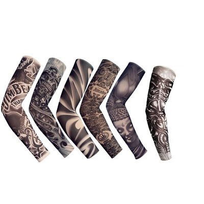 6 pcs Tattoo Cooling Arm Sleeves Cover Basketball Golf Sport UV Sun Protection 9