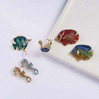 Rhinestone Crystal Animal Frog Turtle Elephant Cat Dog Brooch Pin Women Jewelly 6