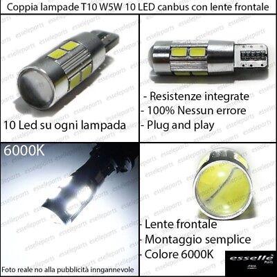 COPPIA LUCI DI POSIZIONE 5 LED SUZUKI SWIFT T10 W5W CANBUS 100/% NO ERROR