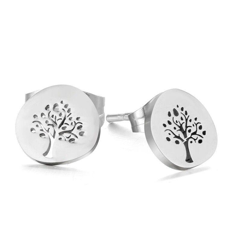 "Tara Ohrstecker ""Baum des Lebens"" Lebensbaum Tree of Life Edelstahl"