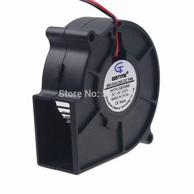 Gdstime 75x75x30mm 12V Brushless Turbo Blower Cooling Fan 7530 0.26Amps