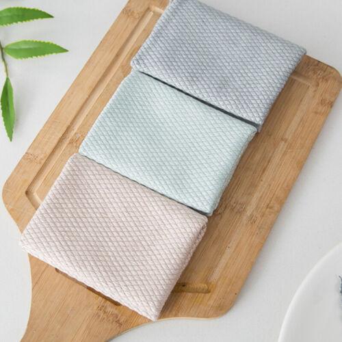 3X Chiffon en Microfibre de Nettoyage Serviette Pour Vaisselle verre Surfaces QK
