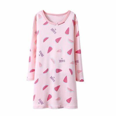 Girls Nightdress Nightie Pyjamas Cotton Long sleeve Nightwear Age 3-16 Years * 2