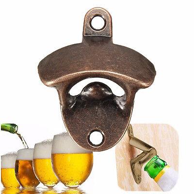 Bronze Edelstahl Bier Bar Anbau Wand Flaschenöffner Wandmontage Küche Opener Set
