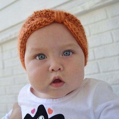 Bébé Fille Bandeau Papillon Nœud Crochet Enfant Serre-tête Cheveux Turban Mignon 10