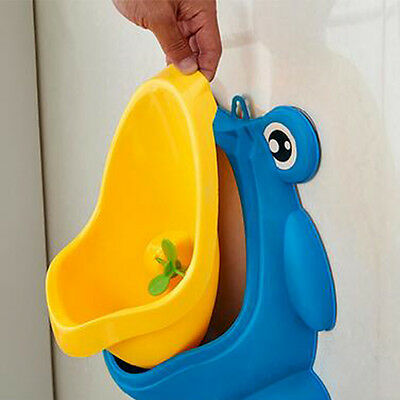 HOT Frog Kids Potty Toilet Training Baby Urinal for Boy Pee Trainer Bathroom New 5