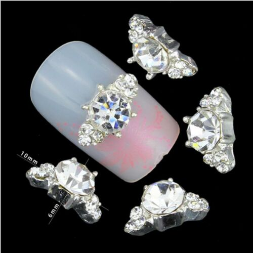 New Chic 10Pcs 3D Nail Art Glitter Decoration Colorful Alloy Rhinestones 8