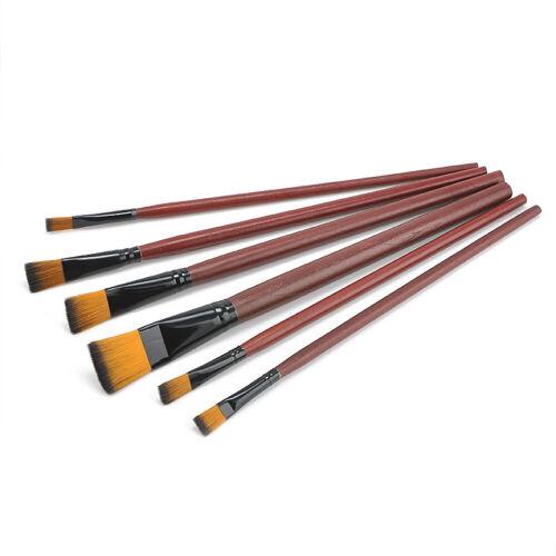 6Pcs//Set Nylon Acrylic Oil Paint Brushes For Art Artist Supplies Watercolor M/&C