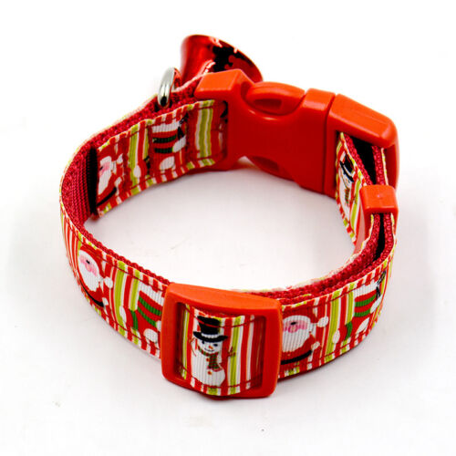 4 of 9 christmas pet dog cat collar adjustable xmas design collars with small bell set