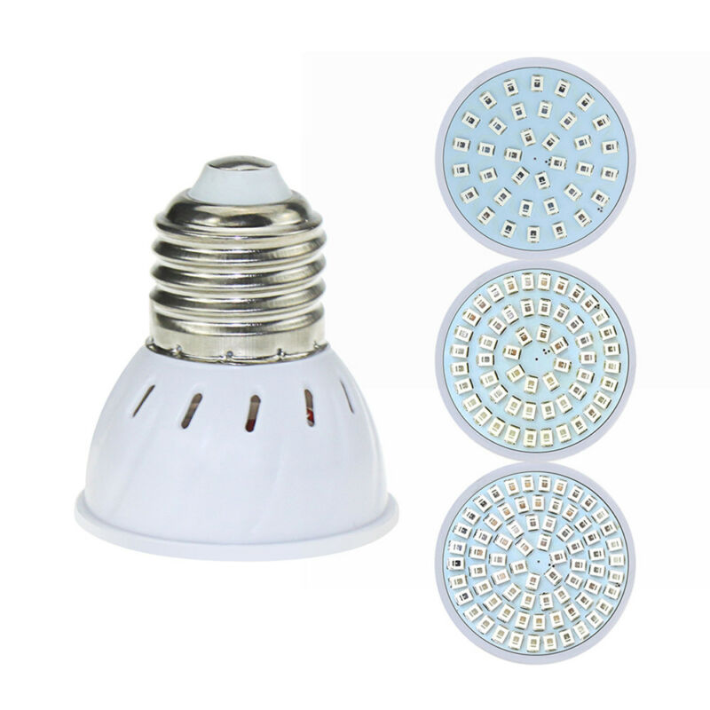 E27/GU10/MR16 36/54/72LED Full Spectrum LED Grow Light Bulb Hydroponic Aquarium