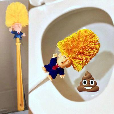 US Donald Trump hand made Toilet Bowl Brush Funny Gag Gift Christmas Xmas KY 3