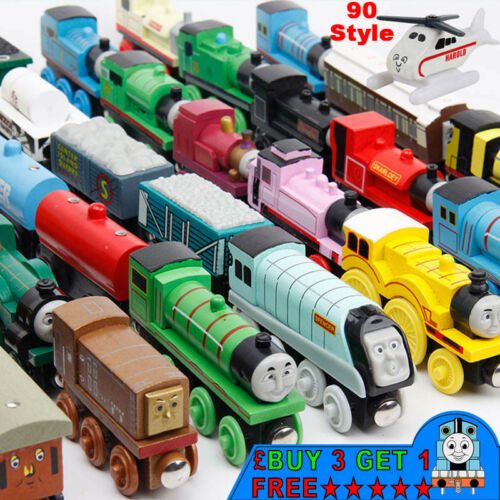 The Tank Engine Tender Wooden Magnetic Railway Train Car Toys Truck Kids Gifts
