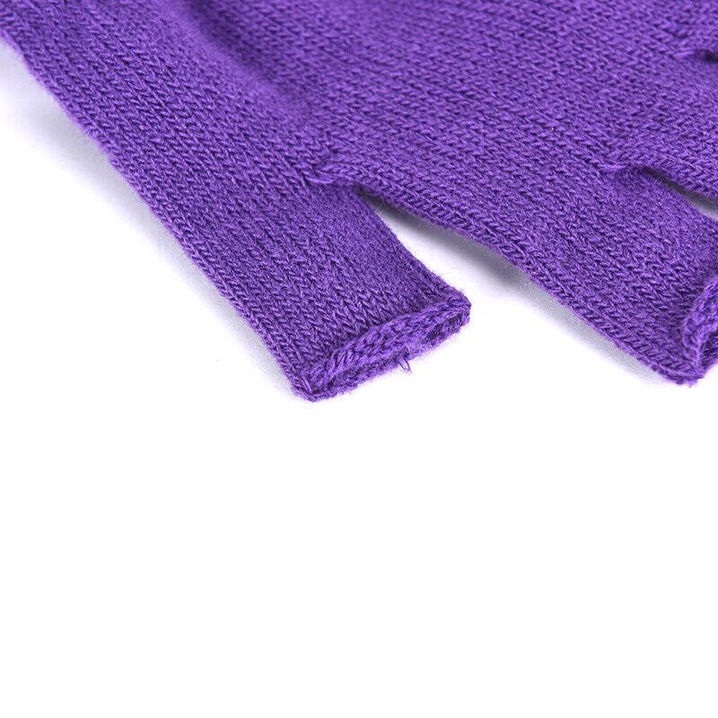 1 Pair Soft Half Fingerless Gloves Women Men Warm Knitted Mittens Couple _kz 8