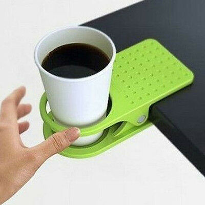 2 Of 4 Newest Creative Office Home Desk Table Drink Water Coffee Mug Clip On Cup Holder