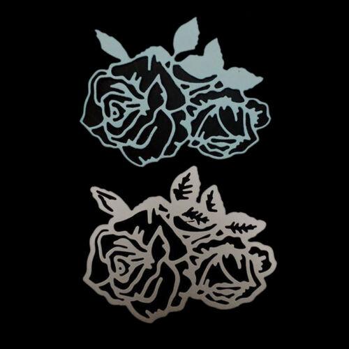 rose flower metal cutting dies stencil scrapbook album paper embossing craf S* 2