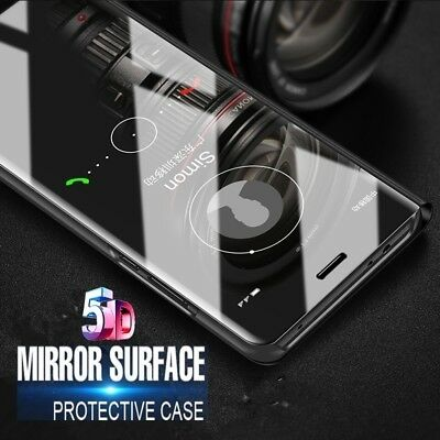 Mirror Flip Case Smart Stand Cover for Samsung Galaxy Note 10 Plus S7 S8 S9 S10+ 8