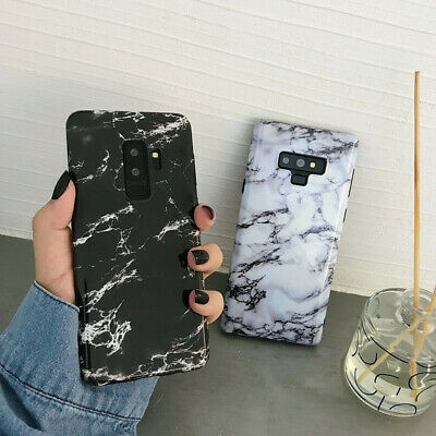 For Samsung Galaxy S8 9 Plus Note Slim Fit Marble Case Protective Phone Covers 2