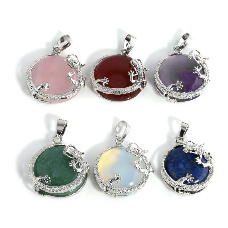 Resin Gemstone Dragon Crystal Pendant Fashion Charms Jewelry no Necklace Chain 5