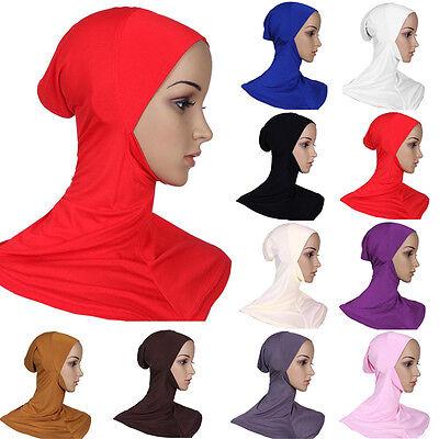 Mussulmano Cotone Pieno Copertura Hijab Interna Cappellini Islamico Stretto 5
