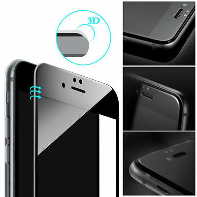 For Apple iPhone 7 8 Plus - 3D Full Cover Curved Tempered Glass Screen Protector 8
