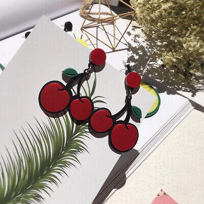 Fashion Women Delicious Fruit Acrylic Pendant Dangle Ear Studs Earrings Jewelry 9