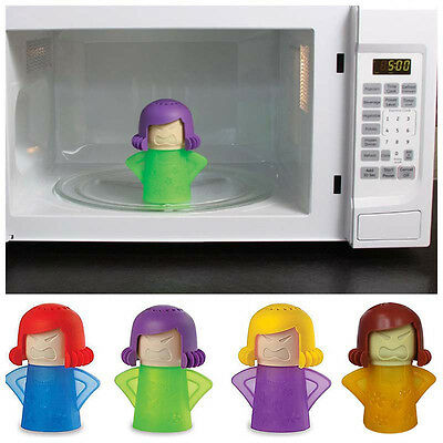 Angry Mama Microwave Oven Steam Cleaner Disinfect Eco Kitchen Gadget Tool Useful