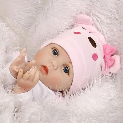 "22"" Realistic Newborn Vinyl Reborn Baby Dolls Gift Handmade Soft Silicone Body 10"