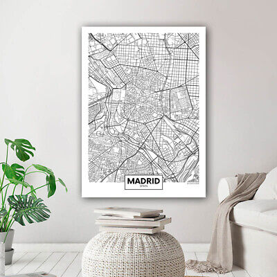 Rotterdam New York London Capital City Map Wall Art Poster Canvas Print Picture 3