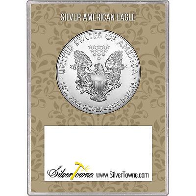 2019 Silver American Eagle BU in Happy Anniversary Gift Holder