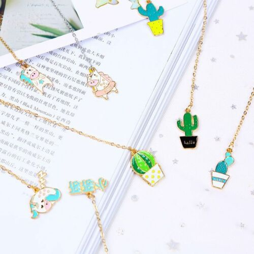 1x Cute Cactus Bookmarks For Books Paper Page Marker Stationery School Supplies