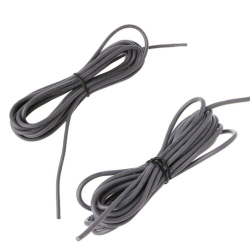 26Awg Grey 2-Conductor Shielded Guitar Circuit Wire Pickup Lead Cable 9ft Length 3