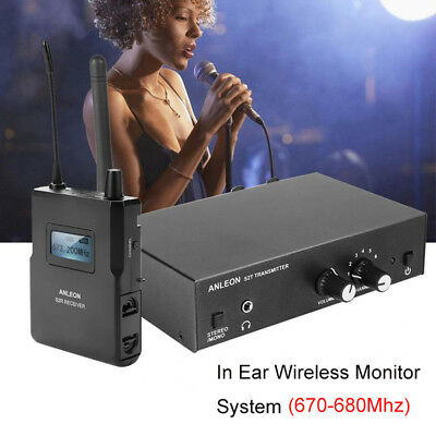 ANLEON S2 UHF Stereo Monitor System Wireless In-ear Stage Trasmitter / Receiver 2