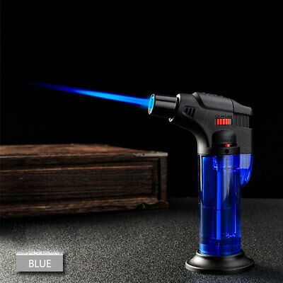 Windproof Refillable Lighter Butane Inflatable Torch Fuel Jet Flame Outdoors CM 10