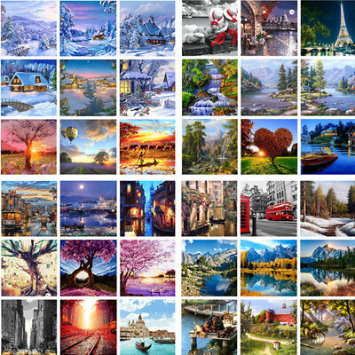 Various Art Paint By Number Kit DIY Acrylic Oil Painting On Canvas Linen Decor 9