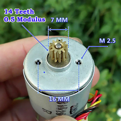 RS-385 Motor DC 12V-24V 5300RPM-10800RPM With Speed Feedback/Encoder Disk/Gear S 5