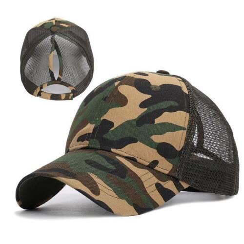 SALICEHB Neue Damen Mesh Cap Pferdeschwanz Baseball Caps F/ür M/ädchen Trucker Hat Camouflage Leopardenmuster Casquette Femme Sommer Angeln H/üte