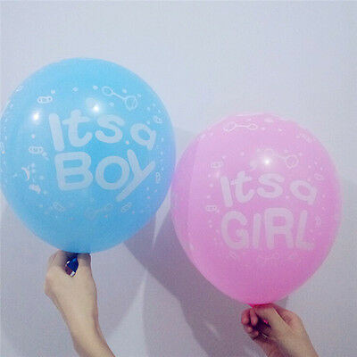 Paquet de 10 à 12 ballons en latex bébé fille / garçon ours bébé douche ball I-n 9