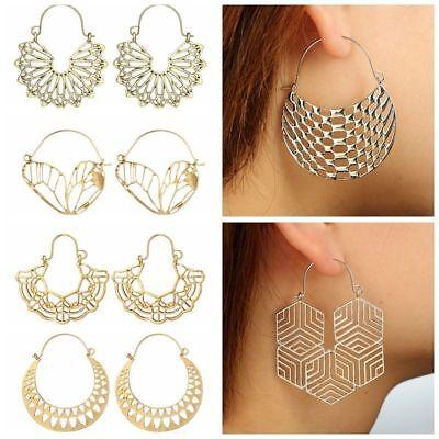 Fashion Bohemia Jewelry Vintage Silver Ear Hook Drop Dangle Tassel Bead Earrings 8