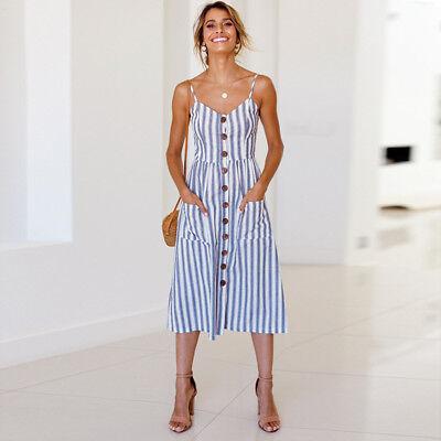 PLUS SIZE WOMEN Boho Floral Long Maxi Dress Evening Party Beach ...