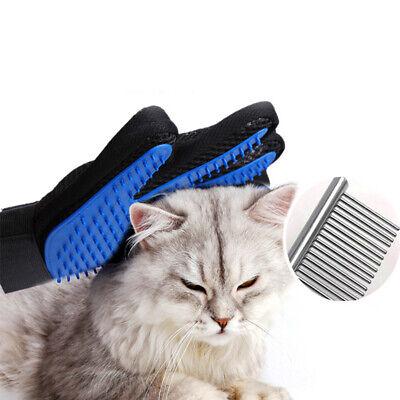 Pet Hair Remover Glove Brush Dog Cat Grooming Massage Soft Bath Shedding Glove 8