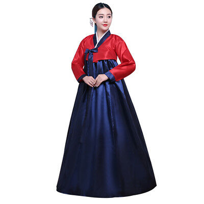 Details about  /Womens Korean Hanbok Dress Costume Ethnic Dance Traditional Long Sleeve Cosplay@