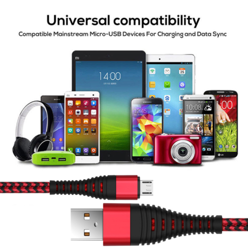 UK Heavy Duty Metal Braided Lightning USB Fast Charger Cable 1~3M For iPhone X 6 11
