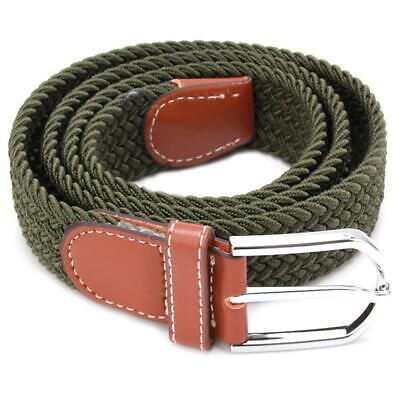 Belt Men Braided Stretch Belt No Holes Elastic Fabric Woven Belts BL3 5