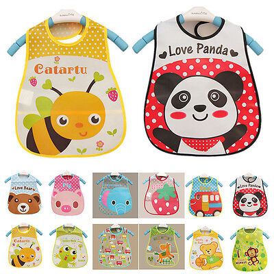 Baby Boy Girl Kids Bibs Waterproof Saliva Towel Cartoon Bib Feeding Bandana EVA