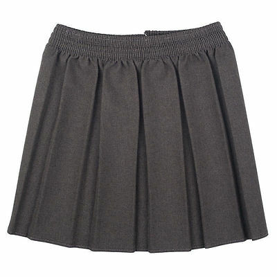 Girls School Uniform Box Pleated Elasticated waist school kids Skirt All Ages 4