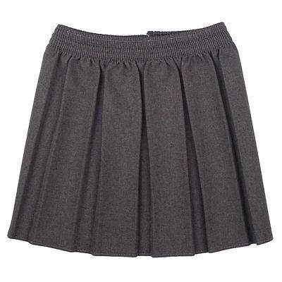 New Girls School  Box Pleated Elasticated Waist Skirt Kids School Uniform 4