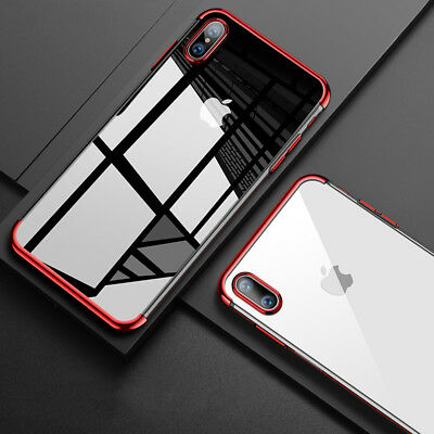 For iPhone XS Max XR X Case Clear Transparent Bumper Shockproof Protective Cover 8